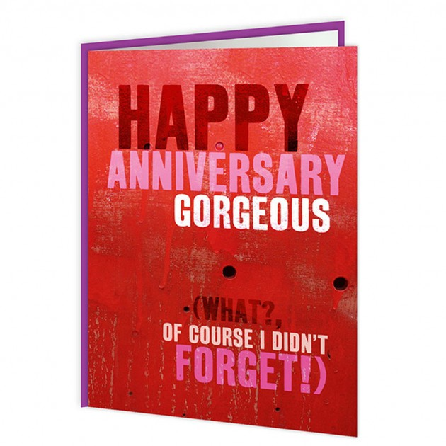 Hampers and Gifts to the UK - Send the Happy Anniversary Gorgeous Card
