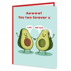 Hampers and Gifts to the UK - Send the Avocado Couple Wedding Card