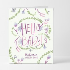 Hampers and Gifts to the UK - Send the Personalised Hello Baby Girl Card