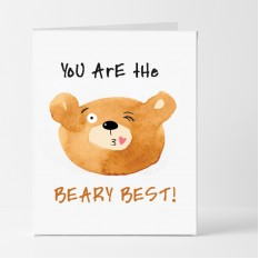 Hampers and Gifts to the UK - Send the The Beary Best Thank You Card