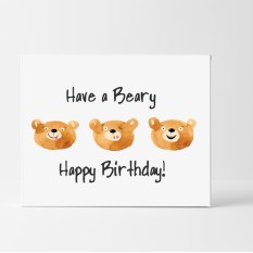 Hampers and Gifts to the UK - Send the Beary Birthday Card