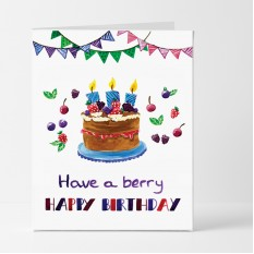 Hampers and Gifts to the UK - Send the Have a Berry Happy Birthday Card