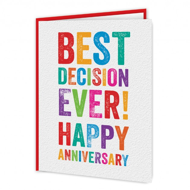 Hampers and Gifts to the UK - Send the Best Decision Ever Anniversary Card