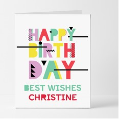 Hampers and Gifts to the UK - Send the Retro Best Wishes Birthday Card