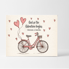 Hampers and Gifts to the UK - Send the Personalised And So the Adventure Begins Wedding Card