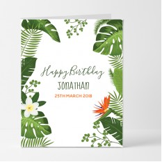 Hampers and Gifts to the UK - Send the Personalised Botanical Birthday Card
