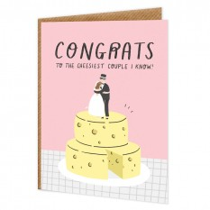 Hampers and Gifts to the UK - Send the Cheesiest Couple I Know Wedding Card