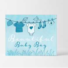 Hampers and Gifts to the UK - Send the Beautiful Baby Boy Card