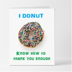 Hampers and Gifts to the UK - Send the Donut Thank You Card