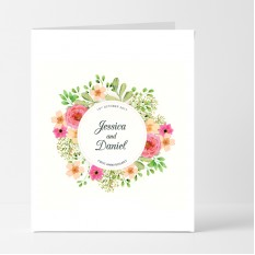 Hampers and Gifts to the UK - Send the Personalised Floral Crest Anniversary Card