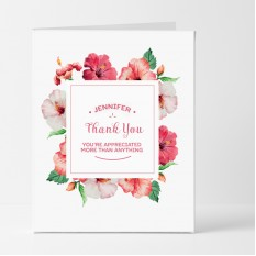 Hampers and Gifts to the UK - Send the Personalised Floral You're Appreciated Card