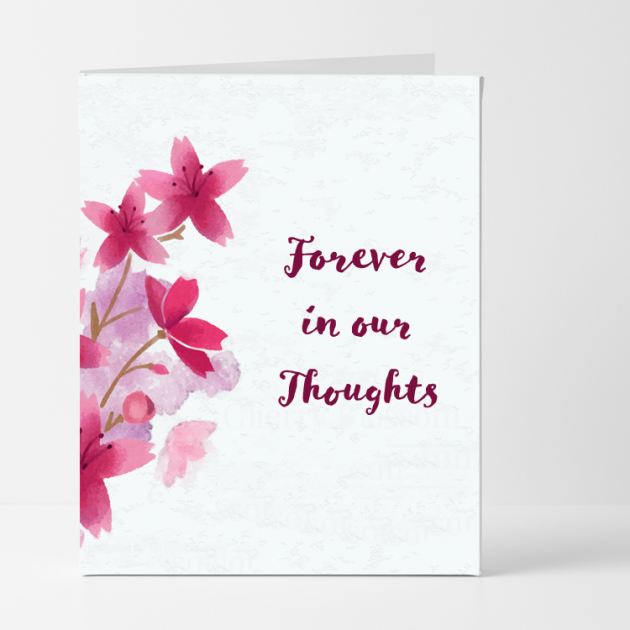 Hampers and Gifts to the UK - Send the Forever in Our Thoughts Sympathy Card