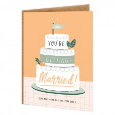 Hampers and Gifts to the UK - Send the OMG! You're Getting Married! Wedding Card