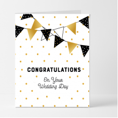 Hampers and Gifts to the UK - Send the Congratulations on Your Wedding Day Card