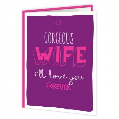 Hampers and Gifts to the UK - Send the Gorgeous Wife Anniversary Card