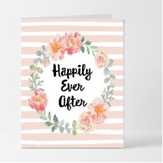 Hampers and Gifts to the UK - Send the Happily Ever After Wedding Card