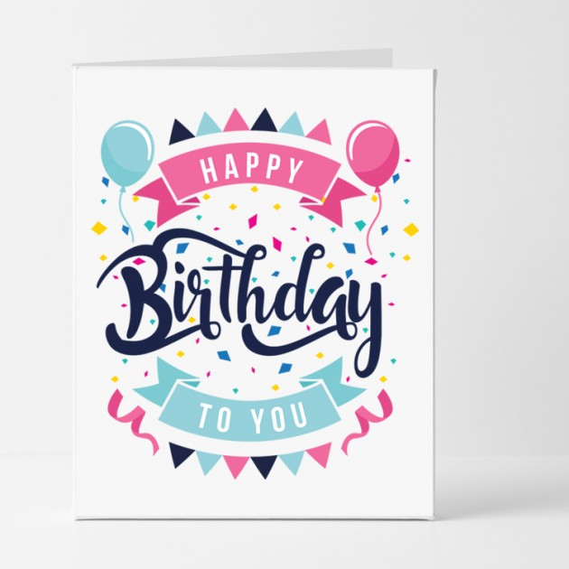 Hampers and Gifts to the UK - Send the Jazzy Celebration Birthday Card