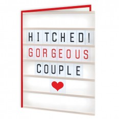 Hampers and Gifts to the UK - Send the Hitched! Gorgeous Couple Wedding Card