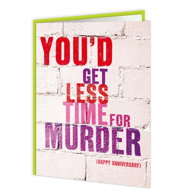 Hampers and Gifts to the UK - Send the Less Time For Murder Anniversary Card