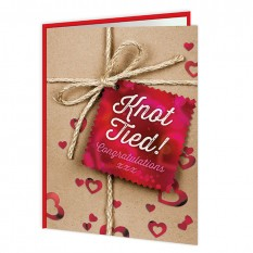 Hampers and Gifts to the UK - Send the Knot Tied! Congratulations  Wedding Card