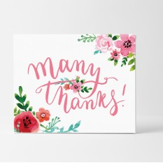 Hampers and Gifts to the UK - Send the Floral Many Thanks Card