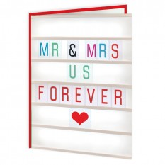 Hampers and Gifts to the UK - Send the Mr & Mrs Us Forever Anniversary Card