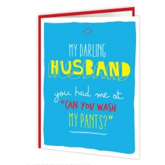 Hampers and Gifts to the UK - Send the My Darling Husband Anniversary Card