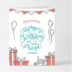 Hampers and Gifts to the UK - Send the Personalised Balloons Birthday Card