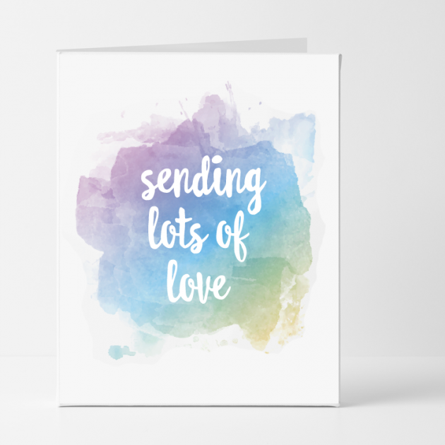 Hampers and Gifts to the UK - Send the Sending Lots of Love Sympathy Card