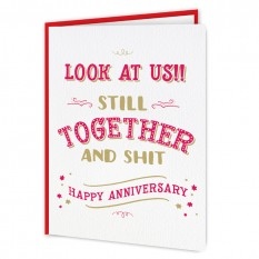 Hampers and Gifts to the UK - Send the Personalised Any Year Anniversary Card