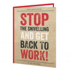 Hampers and Gifts to the UK - Send the Stop The Snivelling And Get Back to Work