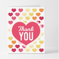 Hampers and Gifts to the UK - Send the Colourful Hearts Thank You Card