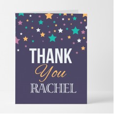 Hampers and Gifts to the UK - Send the Personalised Stars Thank You Card