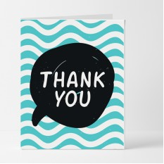 Hampers and Gifts to the UK - Send the Speech Bubble Thank You Card