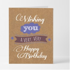 Hampers and Gifts to the UK - Send the Very Very Happy Birthday Card