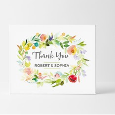 Hampers and Gifts to the UK - Send the Personalised Watercolour Thank You Card