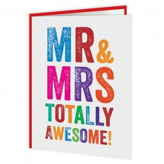 Hampers and Gifts to the UK - Send the Mr & Mrs Totally Awesome Wedding Card