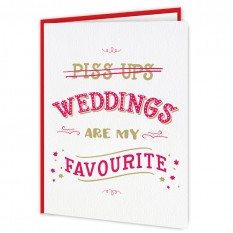 Hampers and Gifts to the UK - Send the Weddings Are My Favourite Funny Card