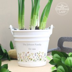 Hampers and Gifts to the UK - Send the Personalised Country Diary Floral Plant Pot