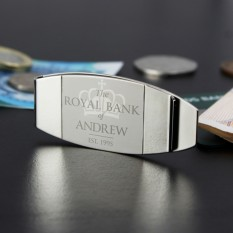 Hampers and Gifts to the UK - Send the Personalised 'Royal Bank of...' Money Clip