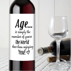 Hampers and Gifts to the UK - Send the Birthday - The Years the World Enjoys You Wine Bottle