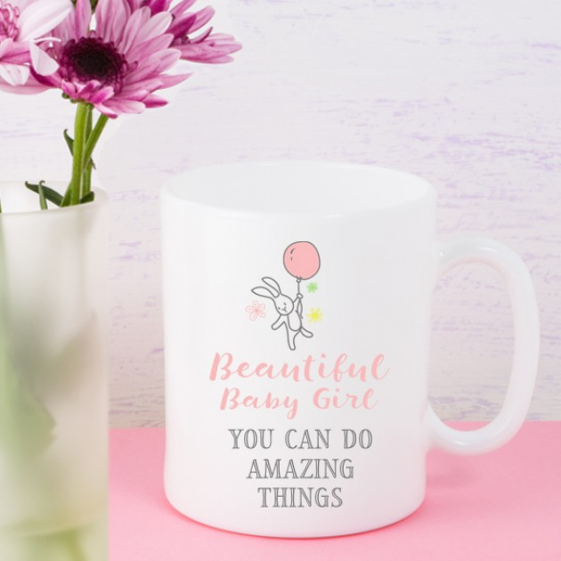 Hampers and Gifts to the UK - Send the Beautiful Baby Girl Mug