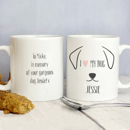 Hampers and Gifts to the UK - Send the Personalised Novelty Mug - I Love My Dog