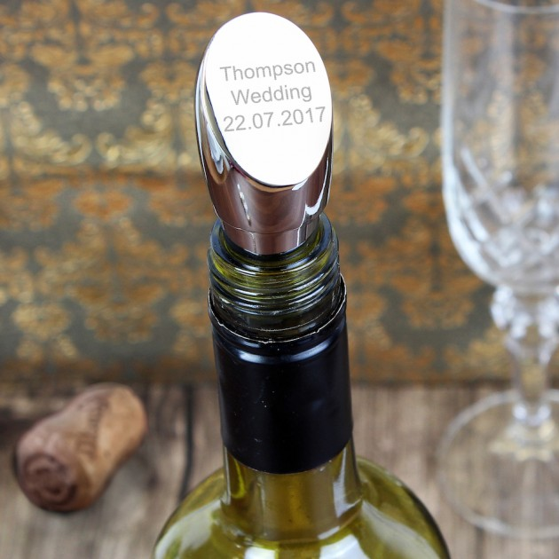 Hampers and Gifts to the UK - Send the Personalised Any Message Wine Stopper