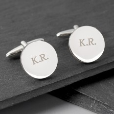 Hampers and Gifts to the UK - Send the Engraved Classic Round Cufflinks