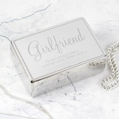 Hampers and Gifts to the UK - Send the Engraved Name and Message Rectangular Jewellery Box