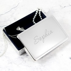 Hampers and Gifts to the UK - Send the Engraved Name Rectangular Jewellery Box