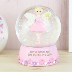 Hampers and Gifts to the UK - Send the Personalised Fairy Snow Globe