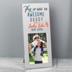 Hampers and Gifts to the UK - Send the Personalised This Is What Awesome Looks Like Photo Frame
