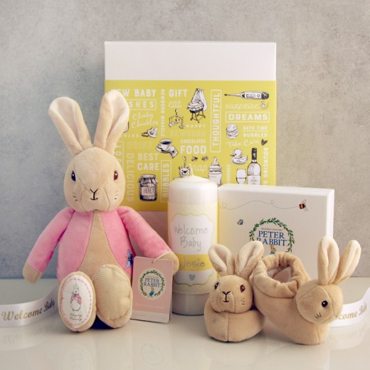 Hampers and Gifts to the UK - Send the Flopsy Bunny Welcome Baby Gift Set